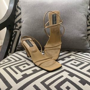 Taupe scrappy sandal